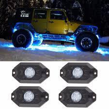 Us 65 07 5 Off 4pcs Bluetooth Pod Rgb Mini Rock Under Vehicle Led Flush Lamp Led Rock Lights Rgb For Off Road Truck Suv Car Boat Motorcycle In Car