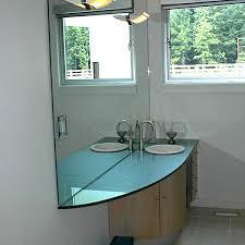 free standing glass vanity raised glass bar top custom glass island