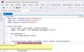 Aurelia – Debugging from within Visual Studio