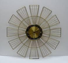 vintage wall clock mid century modern