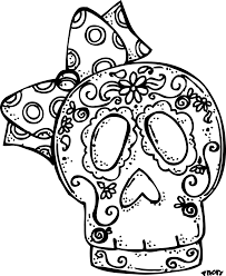 Adult Day Of The Dead Coloring Pages Day Of The Dead Skeleton