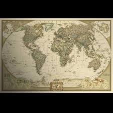 World Map Home Decor Small Paper World Map Wall Poster Family Office Decor Art Antique