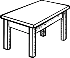 furniture clipart black and white. Delighful Furniture School Desk Drawing At GetDrawingscom  Free For Personal Use  Png And Furniture Clipart Black White A