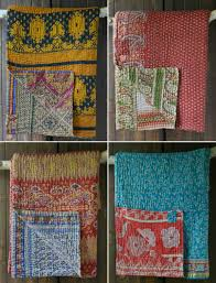 Summer collection kantha quilts are here! - Decorator's Notebook & Kantha quilts made from vintage sari cotton from Decorator's Notebook UK Adamdwight.com
