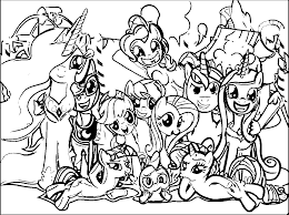 Small Picture Pony Cartoon My Little Pony Coloring Page 082 Wecoloringpage