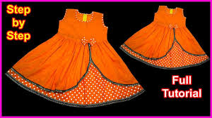 Diy Designer Baby Frock Cutting And Stitching Full Tutorial Baby Diy Double Layer Skirt Superb Beautiful Designer Baby