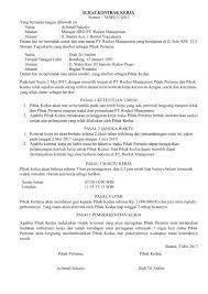 Tentu saja isi dan format suratnya sedikit berbeda dengan surat keterangan kerja untuk karyawan yang keluar dari. Download 14 Contoh Surat Kontrak Kerja Karyawan Perusahaan