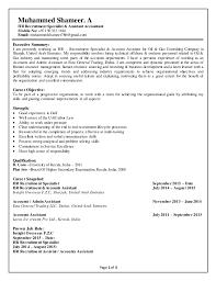 Recruitment Cv Muhammed Shameer Cv Hr Recruitment Assistant Accountant