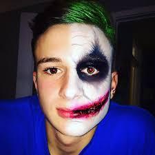 half face makeup for men