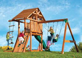 Kids Creation Redwood Circus 3 Swing Set