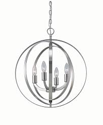 Small Picture Home Decorators Collection 4 light brushed nickel sphere