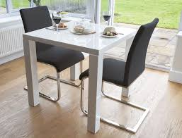 astonishing small black dining table chairs modern white gloss kitchen set for