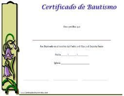 Certificado De Bautismo Template Certificado De Bautismo