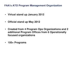 Faa Ato Org Chart Ppt Faa Air Traffic Organization Program Management