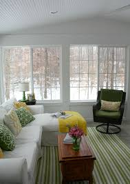 sunroom decor ideas. cheerful sunroom in the winter. #sunroom homechanneltv.com · decoratingsunroom ideasporch decor ideas