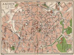 Details About Aachen Vintage Town City Map Plan Germany 1933 Old Vintage Chart