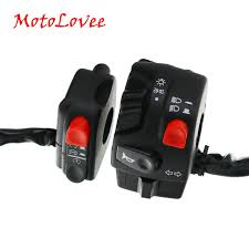 <b>MotoLovee 22mm</b> Motorcycle Switches Motorbike Horn Button Turn ...