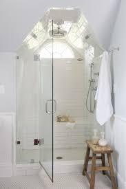 Bathroom:Small White Attic Bathroom With Glass Shower Door Ideas Awesome  Attic Bathroom Ideas