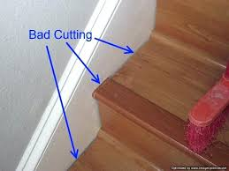 best laminate flooring steps bad stair installation it shows gaps where the treads and risers nosing laminate stair treads flooring