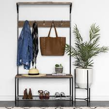 Coat Shoe Rack Mesmerizing Best Choice Products 322x322in 32Tier Entryway Coat Shoe Rack Bench