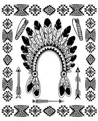 Indian Coloring Pages Native American For Adults New Fine Decoration