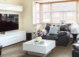 ikea white living room furniture. Living Room With Leather Seats And White Gloss Furniture Ikea O