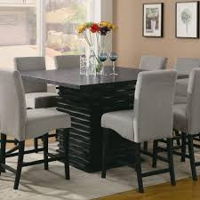 Pub Height Kitchen Table Sets Coaster 102068 Stanton Square Black Counter Height Dining Table