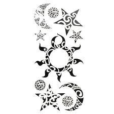 069 1 Pcs Dočasné Tetování Voděodolné Papír Tetovací Nálepky Vzor Spodní část Zad Waterproof