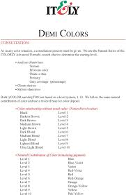 Colorly 2020 Colour Chart Demi Colors Requirements Delyton And Or Lycolor Deal Salon