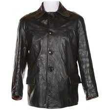 60s black leather sportsmen heavyweight jacket l black 285 rokit vintage clothing