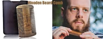 beardoholic wooden beard comb