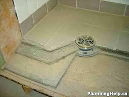 install shower base concrete floor how