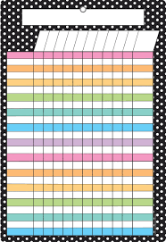 White Incentive Chart Smart Black White Polka Dots Incentive Chart Dry Erase