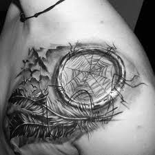 Native Dream Catcher Tattoos 100 Dreamcatcher Tattoos For Men Divine Design Ideas 10