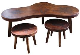 Coffee Table Stool Mid Century Peruvian Leather Coffee Table Stools Chairish