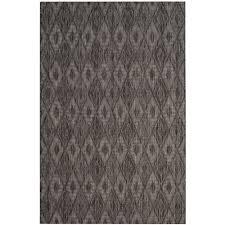round indoor outdoor area rug lovely safavieh courtyard black 8 ft x 11 ft indoor outdoor