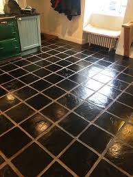 Slate Floor Tiles For Kitchen Slate Kitchen Floor Stripped Cleaned And Sealed Lochwinnoch
