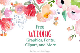 Free Wedding Svgs Fonts And Clipart For Gifts And Stationery