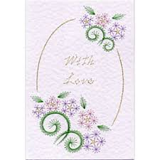 Flower Border Designs For Paper Flower Border With Love In Flowers E Patterns At Stitching Cards