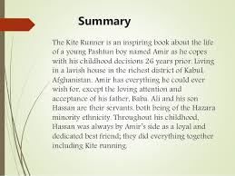 the kite runner summary the kite runner
