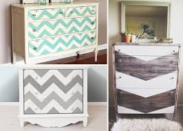 diy painted furniture ideas. Diy Chevron Painted Dresser Ideas Furniture D