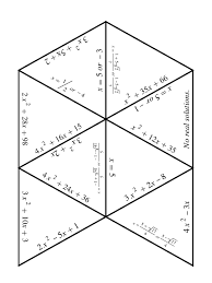 433ae7930ca6f94743fae309894 a quadratic equations puzzle cut up the triangles already mixed review math worksheets 7th grade 433ae7930ca6f94743fae309894