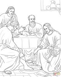 Coloring Page Jesus Last Supper Archives - Mente Beta Most ...