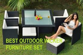 best outdoor rattan wicker patio sofa furniture set reviews