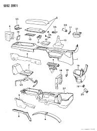 1990 chrysler lebaron gtc console center diagram 000005u5