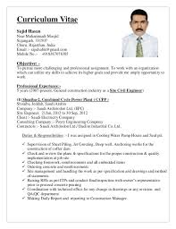 civil supervisor resume format 28 images 100 civil supervisor