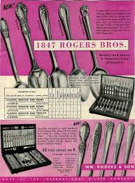 1847 Rogers Bros Patterns Cool FLATWARE PATTERNS 48 ROGERS BROS