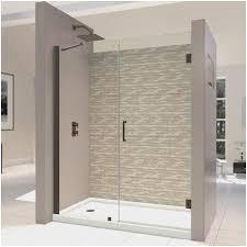 frameless hinged glass bathtub doors astonishing dreamline unidoor 52 53 inch frameless hinged shower of