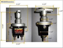 """combination magneto battery kill switch fr1010 584 5464 shipping dimensions 6"""" x 6"""" x 5"""" fr1010 dimensions automotive parts flaming river"""