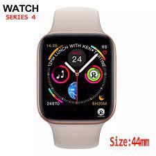 44mm erkekler Smartwatch apple izle iphone 6 için 7 8 X Samsung Android  akıllı seyretmek telefon desteği Whatsapp|Akıllı Saatler